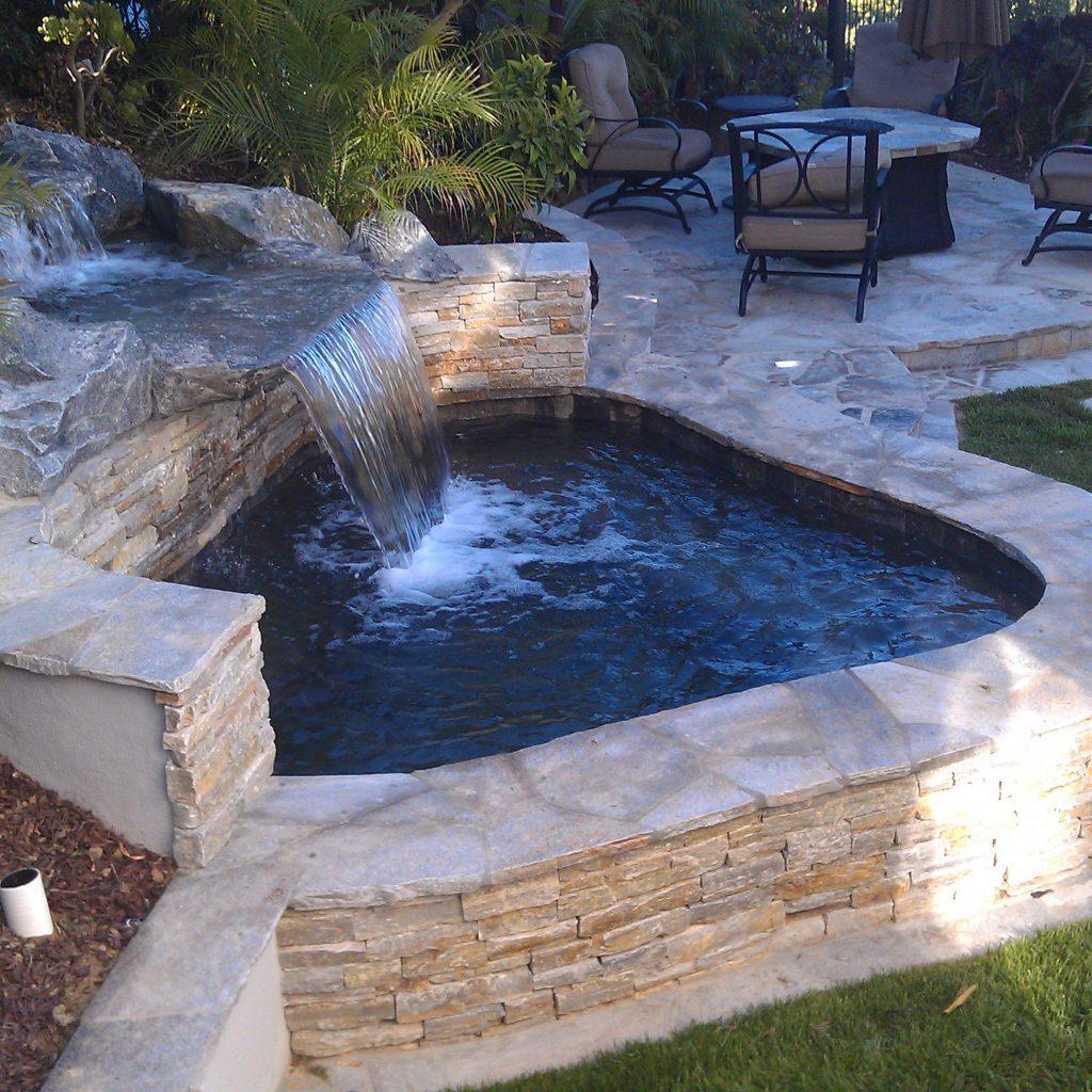 custom spas with stone