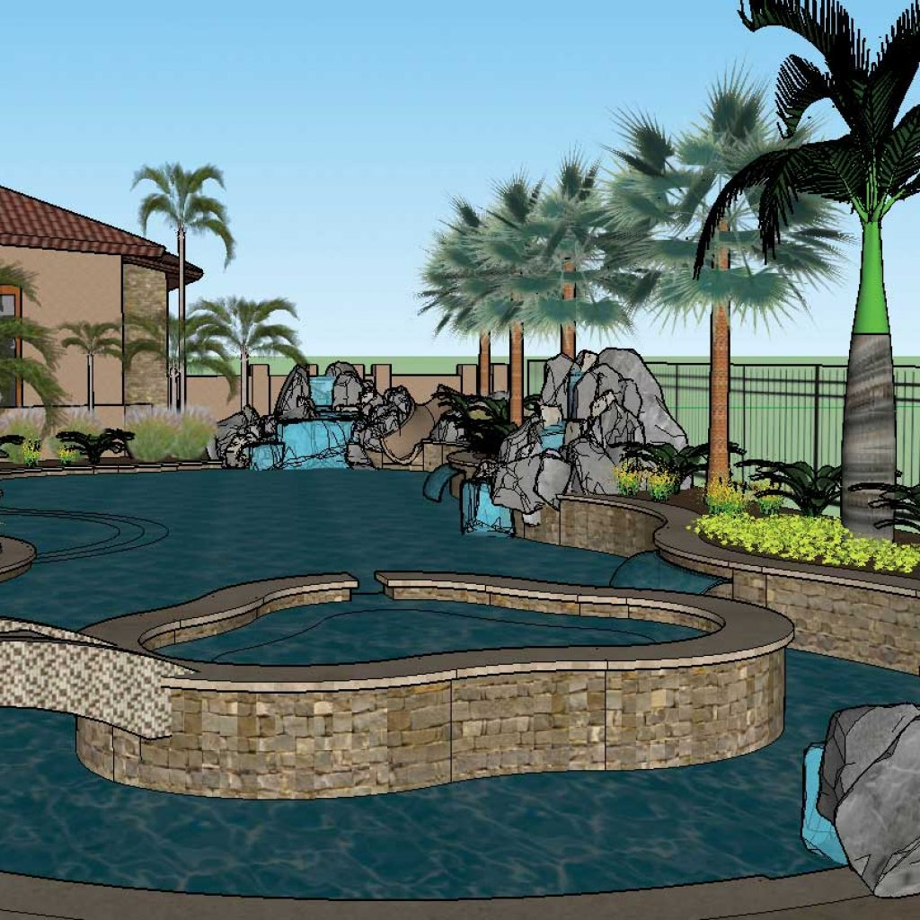Pacific Sun Pool and Spa pool design concept.